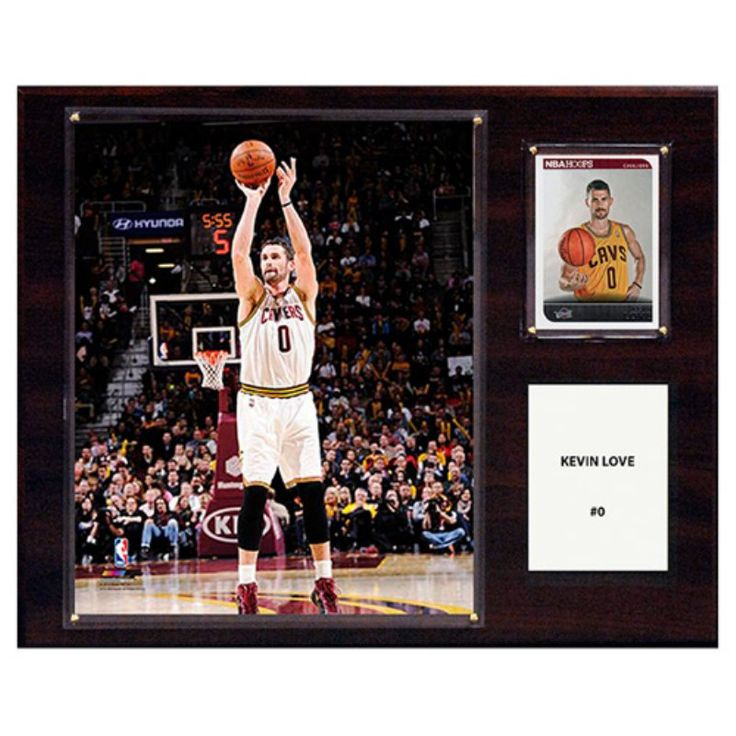 C and I Collectables NBA 15W x 12H in. Kevin Love Cleveland Cavaliers Player Plaque - 1215KLOVECL