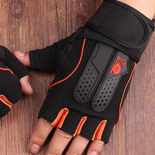 Men Women Sports Fitness Half Finger Gloves Dumbbells Weightlifting Wraining Anti-Slip Gloves online - NewChic