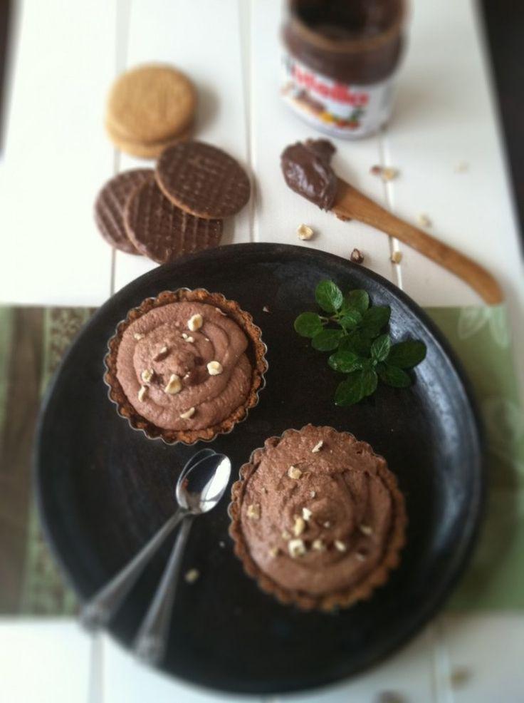 Nutella Mascarpone Chocolate Tarts recipe by Bell'alimento