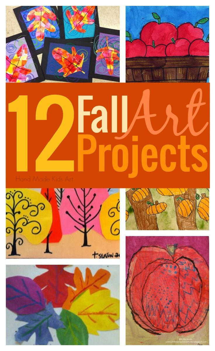 12 Amazing Fall Art Projects for Kids curated by Hand Made Kids Art. Easy to do…