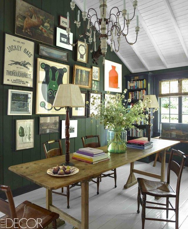 Green dining room -  Charming NorCal Home of Stella & Dot's Founders   MyDomaine