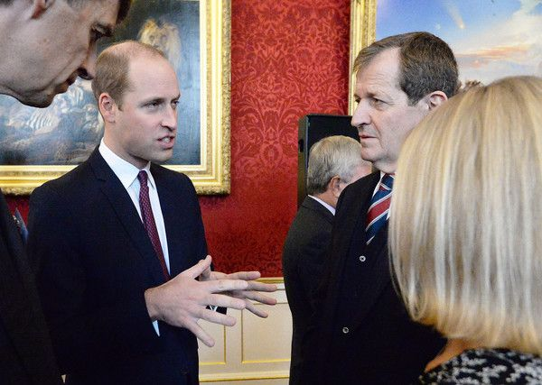 Prince William Photos - Prince William, Duke of Cambridge speaks to Alastair Campbell at a reception on World Mental Health Day to celebrate the impact of the Heads Together Charity at St James's Palace on October 10, 2017 in London, England. - The Duke & Duchess Of Cambridge and Prince Harry Support World Mental Health Day