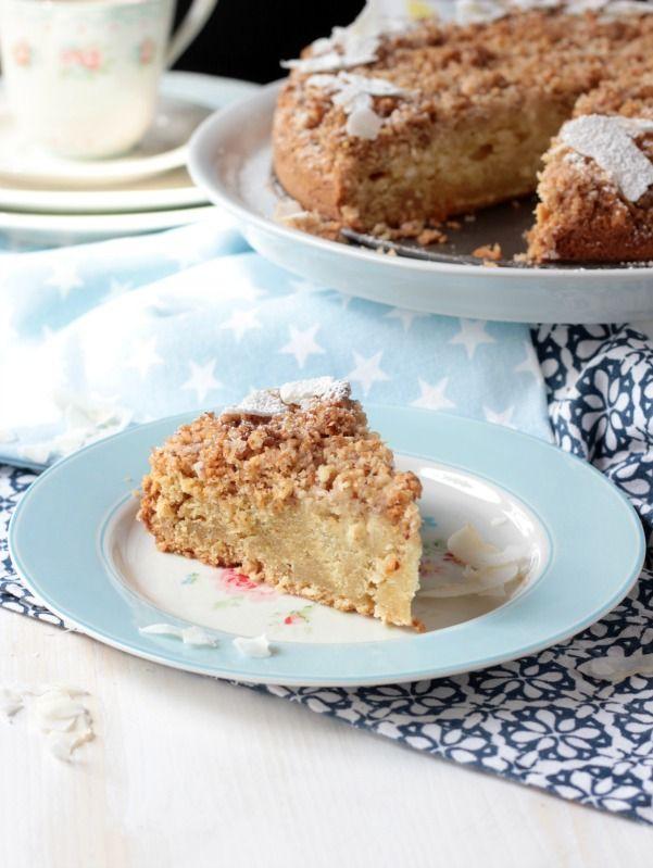 Amerikanischer Sour Cream Streuselkuchen. Ein wunderbarer,rustikaler Kuchen zum Kaffee.Dieser Coffee Cake oder…