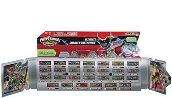 """Includes all 27 show accurate Dino Chargers. Metallic deco finish. Partial window box that opens / closes like a book.<br><br>Calling all Power Rangers! Gear up to battle monsters from across the galaxy with our wide selection of toys, electronics, games, movies, and accessories.You can find all that you need and more in our <a href=""""http://www.toysrus.com/family/index.jsp?categoryId=11194092&sr=1&origkw=power%20rangers""""><b>Power Rangers Shop</b></a> at Toys R Us!"""