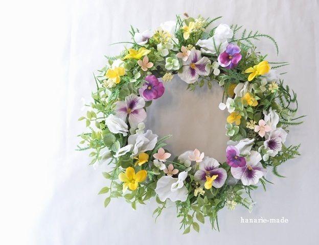 ハンドメイドマーケット minne(ミンネ)  romantic violets :wreath