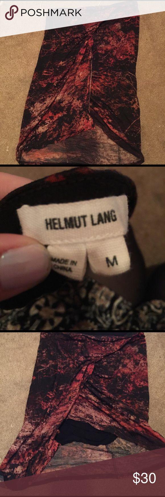 Helmut Lang Tulip 🌷 Pencil Skirt Fire 🔥 Mini Helmut Lang skirt. Size medium. Tulip skirt. So beautiful! Helmut Lang Skirts Pencil