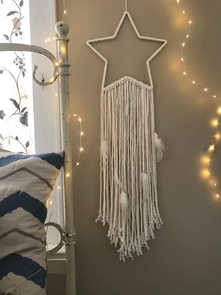 Dreamcatcher Wall Hanging, Nursery Wall Art Stars, New