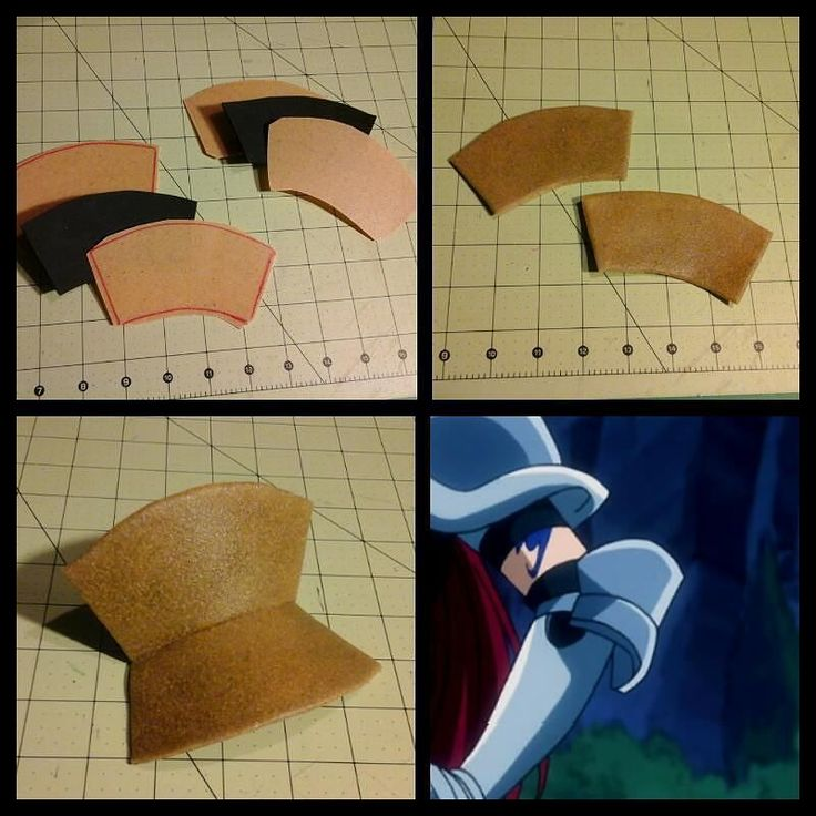 Mini #tutorial on how I made Erza's elbow #armor piece! For both arms cut out 4…