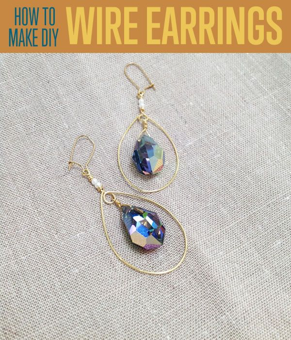 How To Make Teardrop Earrings | Wire Wrapping Techniques | DIY Jewelry | diyready.com