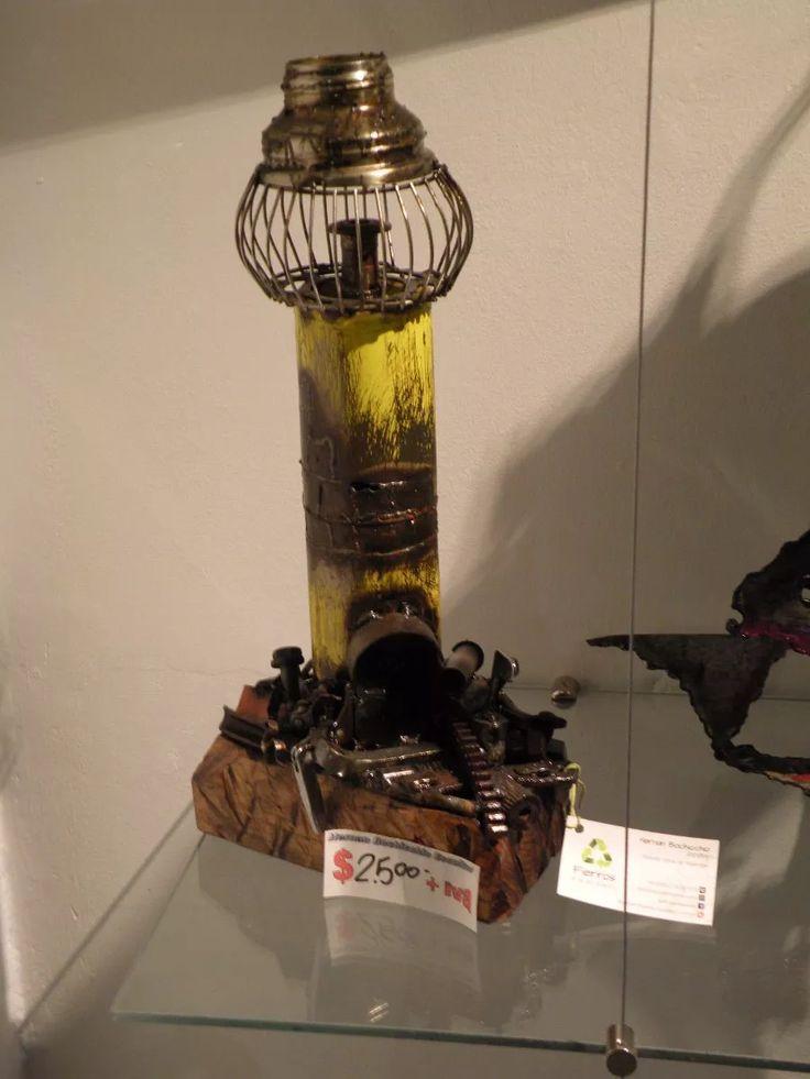 escultura en hierro reciclado  faro