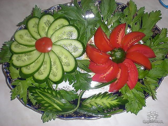 Tomato & Cucumber Serving Idea