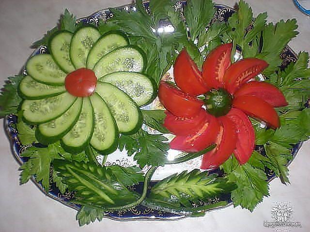 Tomato & Cucumber Serving Idea