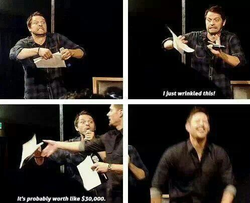 Haha Misha Collins Supernatural ☾★ Pinterest Haha