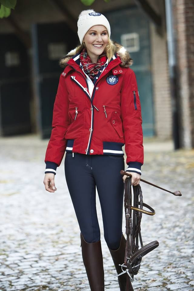love this outfit... red, white, blue and those brown boots!
