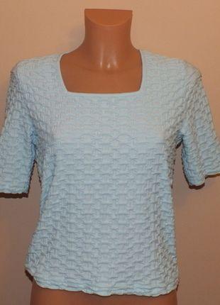Kup mój przedmiot na #vintedpl http://www.vinted.pl/damska-odziez/bluzki-z-krotkimi-rekawami/11957549-blekitna-bluzeczka-pod-zakiet-36-s-8