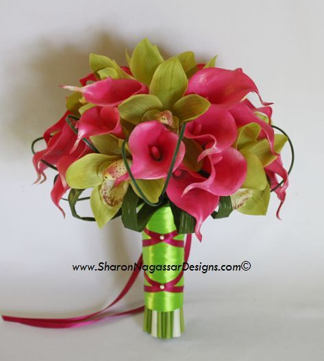 pink and green,