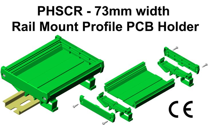 Profile PCB Holders Rail Mount for 73 mm width PCB Length : 250mm It is in Pre-assembled kit form. Also available for 108mm width PCB & Panel Mounting. Length options 1, 2 meter & Custom length. Application : Interface modules for Relays, Din Connectors, Flat Cable, Opto - coupler, Switch.. #GaurangEnclosures #DinRailPcbHolders #PCB #DinRailEnclosures #PlasticEnclosures #WallMountEnclosures #ElectronicEnclosures #Enclosures Mfg: www.gaurang.com