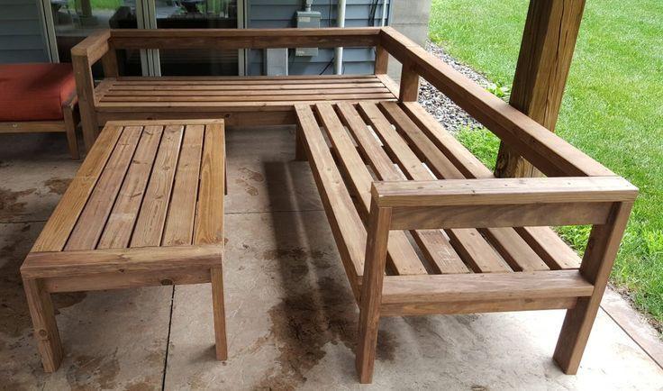 Diy Outdoor Sectional Couch Kinda Sorta Simple Furnitureartdeco Furniturediy Furnitureforsmallsp Diy Patio Diy Garden Furniture Diy Outdoor Furniture