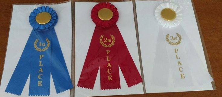 1st 2nd 3rd Place Rosette Award Ribbons Set - 1 of Each Ribbon Included Winning #WinningRibbons