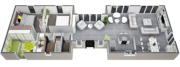 12 best Véranda à toit plat lumineuse images on Pinterest - plan de maison de 100m2 plein pied