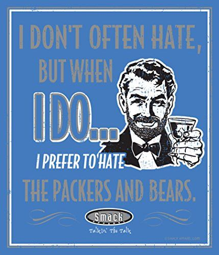 Detroit Lions Fans. I Prefer to Hate (Anti-Packers & Bears). Metal Man Cave Sign