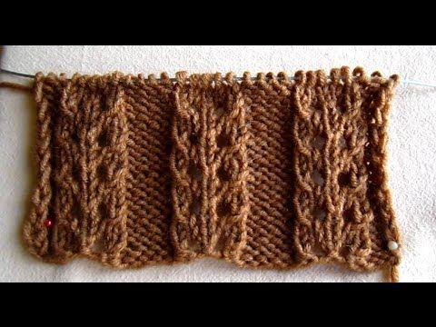ВЯЗАНИЕ СПИЦАМИ ДЛЯ НАЧИНАЮЩИХ! АЖУРНАЯ РЕЗИНКА №3!Knitting
