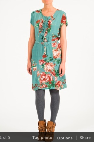 Indi & Cold in store - 2013 - vintage turquoise dress - EB x