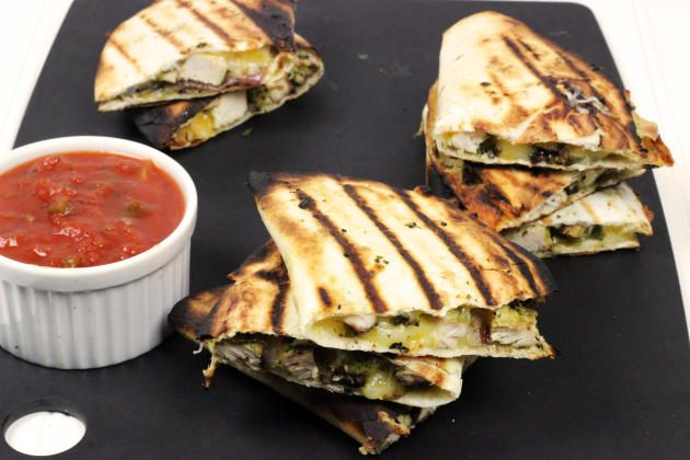 Make a Grilled Chicken Quesadilla for dinner tonight. Super quick and easy!