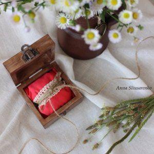 Шкатулка для колец, свадебная шкатулка. Деревенская любовь
