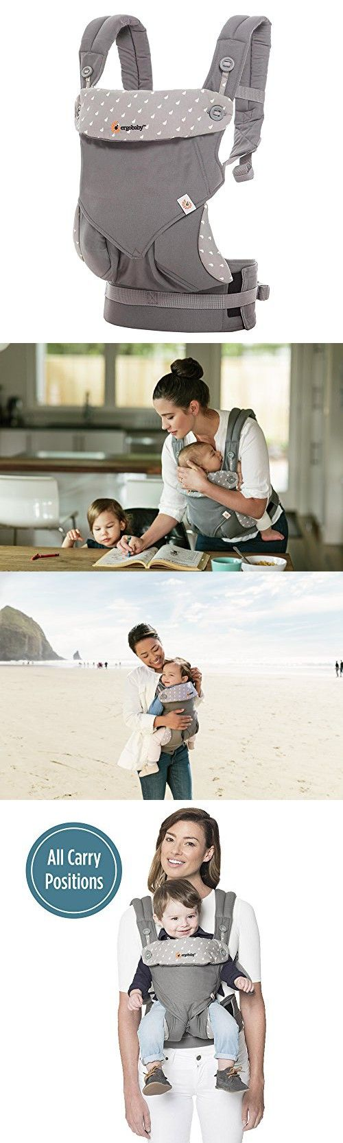 Ergobaby 360 All Carry Positions Award-Winning Ergonomic Baby Carrier, Dewy Grey