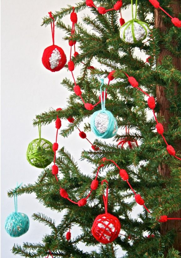 45 best Christmas  YarnStringThread Crafts images on Pinterest