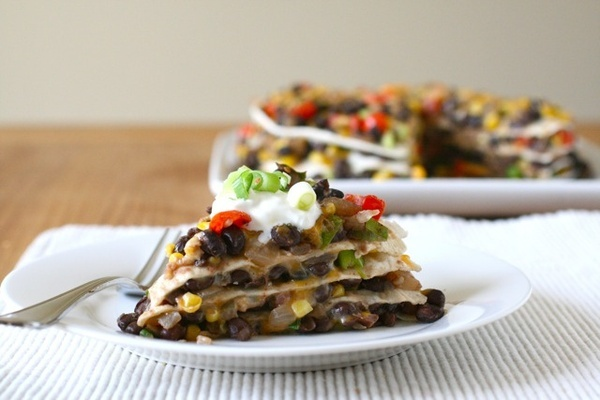 More like this: black beans , tortilla pie and taco pizza .