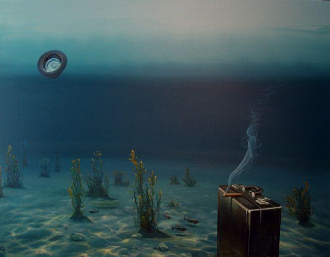 Ole Fick - surrealismen malerier af ole fick, surrealisme, surrealistiske kunstnere, surrealistisk kunst fra Danmark