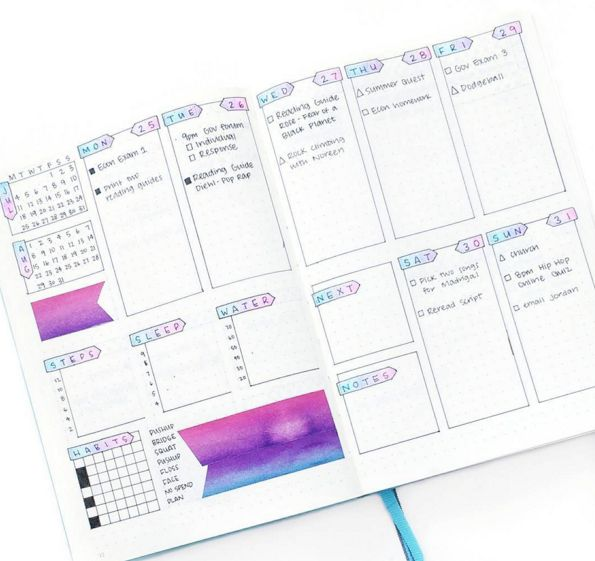 And I, eee-I… | 25 Satisfying Bullet Journal Layouts That'll Soothe Your Soul