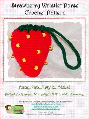 Crochet Wristlet Purse Pattern : Strawberry Wristlet Free Crochet Pattern Crochet & Amigurumi Corner ...