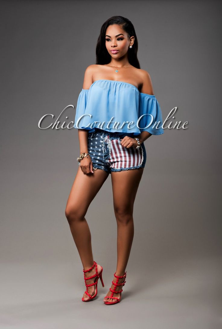 Chic Couture Online - Americana Flag Dark Denim Mini Shorts, $40.00 (http://www.chiccoutureonline.com/americana-flag-dark-denim-mini-shorts/)