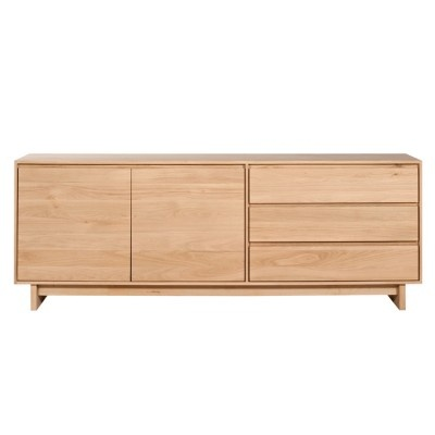 £1335   Simply Beautiful Contemporary Solid Oak Sideboard.   Two Sizes To  Choose From