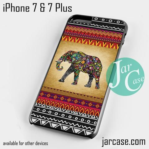 Vintage Aztec Elephant Phone case for iPhone 7 and 7 Plus