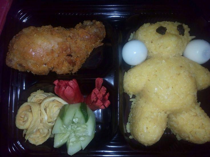 Bekal anak sekolah Nasi karakter panda