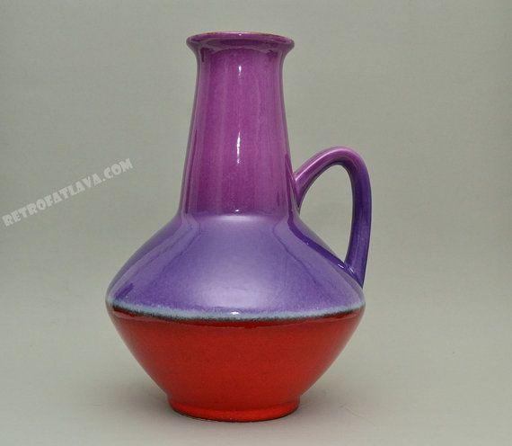 Stunning Carstens Tönnieshof handled vase - Purple red on Etsy, $125.02 CAD