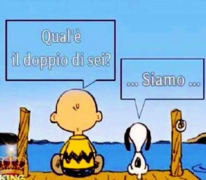 """Aritmetica dello spirito - """"Qual'è il doppio di sei?"""" - """"... Siamo ..."""" [Charlie Brown & Snoopy]"""