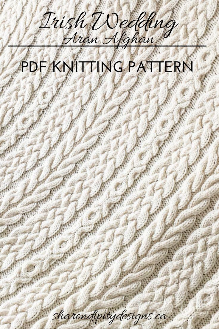 Irish Wedding Aran Afghan, Knit Afghan, Aran Afghan, Knitting ...