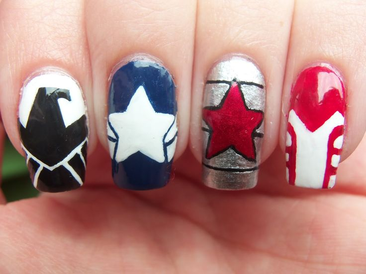 Meg's Manicures: Captain America: The Winter Soldier