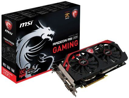 MSI AMD Radeon R9 285 Gaming; PCI-Express x16 3.0, GDDR5 2GB, 256-Bit, GPU: 954MHz Core (Boost Clock:973MHz) (OC Mode) / Mem:5500MHz, DVI x2, 1x DP, HDMI x1, DirectX 12 API, 4 x Displays, Dual Slot ATX, MSI TWIN FROZER IV cooler, GAMING App, PREDATOR Tool, AMD Eyefinity, AMD CrossfireX Support : Graphics Card - Graphics Cards - Video Card - Video Cards