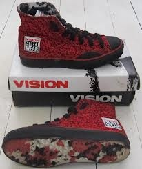 80s vintage vision street wear hightops shoes