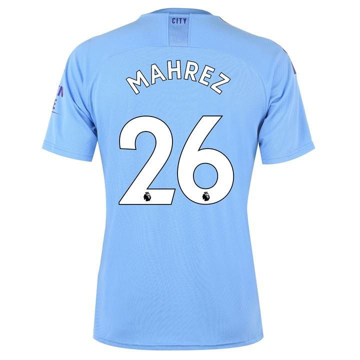 Puma Manchester City Riyad Mahrez Home Shirt 2019 2020 Shirts Manchester City Mens Tops