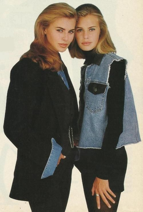 Krissy and Niki Taylor 1992 - Try to ignore the clothes (I know it's hard), and just look at those faces. It's a tragedy those two didn't get to grow up together, enjoying full careers alongside each other.
