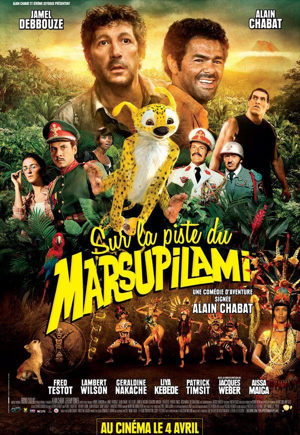 Sur la piste du Marsupilami est un film de Alain Chabat avec Jamel Debbouze, Alain Chabat. Synopsis : Quand Dan Geraldo, reporter en quête de scoop, arrive en Palombie, il ne se doute pas qu'il va faire la plus incroyable des découvertes… Avec Pablito,