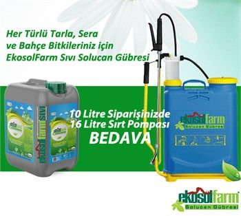 EkosolFarm %100 Organik Sıvı Solucan Gübresi 10 Litre 16 Litre Sırt Pompası BEDAVA Her Türlü Sulama Sistemine Uygun üretilmiş Sera, Bahçe Bitkileriniz için Besleyici ve Güçlendirici, Uzun Etkili %100 Organik Sertifikalı Sıvı Solucan Gübresi EkosolFarm %100 Organic Liquid Worm Casting 10 Liter
