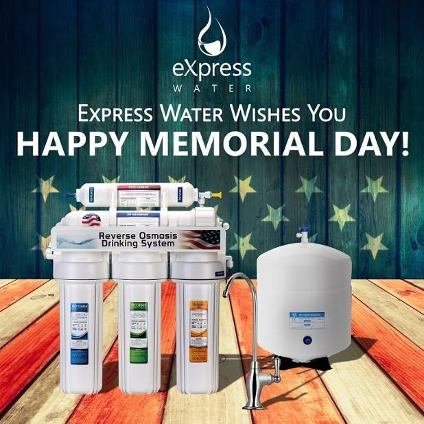 Happy Memorial Day from #ExpressWater #Thankyou #MemorialDay #USA #MemorialDayWeekend #ArmedForces